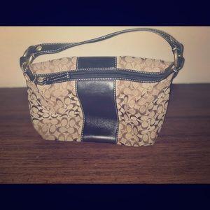 Authentic Coach signature purse